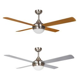 EFFY Ceiling fan 122 cm, LED light, remote, reverse mode and double faced blades.