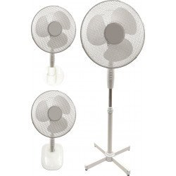 Hybrid fan 3 in 1 blades of 40 Cm, with oscillation, table, wall, stand.