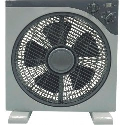Tropical window fan 30 Cm, Grey 3 speeds with protection grid with rotation.