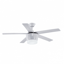Modern white ceiling fan 132 cm with ultra powerful led plate, remote control