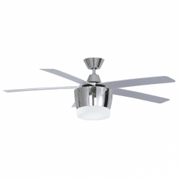 Modern Chrome Ceiling Fan 132 cm with ultra powerful LED plate, remote control