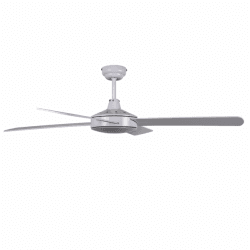 Astro - Ceiling fan in modern style, white and light grey, 132 cm, remote control