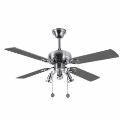 Ceiling fan modern Nickel silver 107 cm ,3 spotlight GU10 remote control