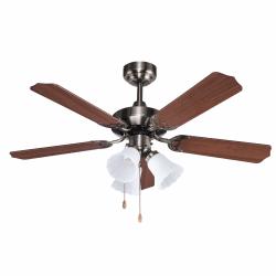 Gabin - Ceiling fan classic brown 107 cm ,3 bulbs E27, pull chain control