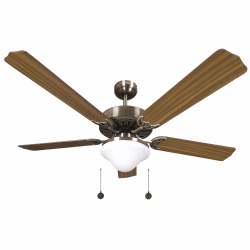 Ceiling fan classic brown 132cm ,2 bulbs E27, pull tab ,remote control