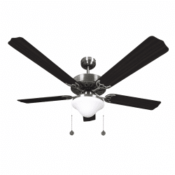 Classic ceiling fan classic wenge brown -132cm ,2 bulbs E27, pull cord ,remote control