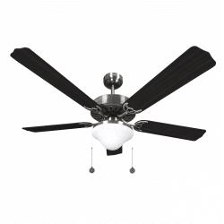Classic ceiling fan classic wenge brown -132cm ,2 bulbs E27, pull cord ,remote control