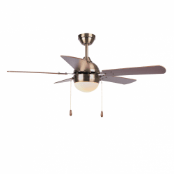 Ceiling fan modern brown -106 cm , 1 bulbs E27, pull chain,remote control