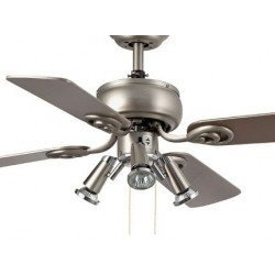 ceiling fan, gray, 91 cm. with integrated lamp - FARO GALAPAGO 33301