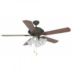 classic ceiling fan, oxid 132 cm brown color. with light, FARO Corso 33274
