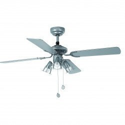 Ceiling Fan, gray, 107 cm. with integrated lamp - FARO jaca33175