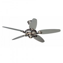 Ceiling fan, modern, 132 cm. Alchemy nickel HUNTER