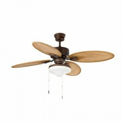 Colonial ceiling fan brown with light 132 cm FARO LOMBOK 33019