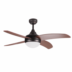 "Artus, ceiling fan 116 cm/45.6"", engine antic brown , blades beech with light kit and remote control"