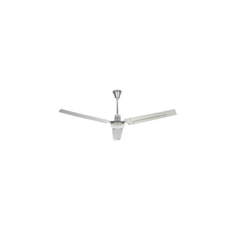 ceiling fan, industrial, chrome, 140 cm. INDUS FARO 33002