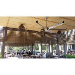 "Large size modern aluminum black lacquered imitation wood destratifier ceiling fan DC 236cm/92.1""  KlassFan Bigcool eco 236"