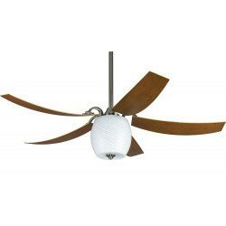 Ceiling Fan MARIANO PWW 132 Cm. Modern, Tin Mat, curved blades ECO lamp. Remote control. Ultra quiet