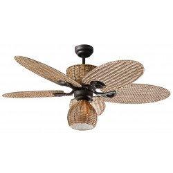 Palma with light Ceiling fan 130 cm , palm leaf shaped blades