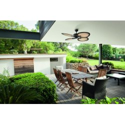 Ceiling fan 130 Cm Bali, traditional fan-shaped blades made of palm leaves.