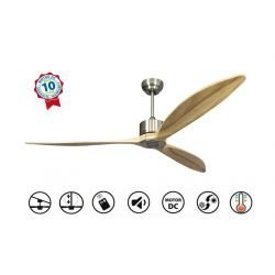 "Ceiling Fan DC Motor, 166cm/65.3"" Solid Wood Blades, Thermostat,Ultra Quiet,Wifi, Klassfan Latino ll"