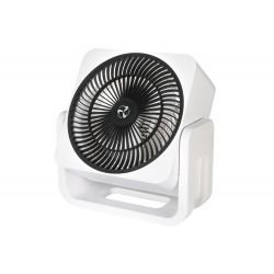 Casafan Airos, mini white high velocity fan  chromium, 3 year warranty