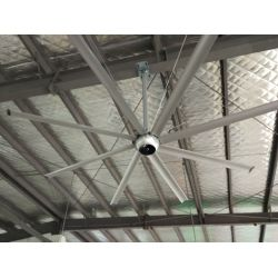 DC Raptor HVLS RTDC14 14ft. High efficiency industrial ceiling fan. Low power usage and high air volume. coverage of 450 sqm