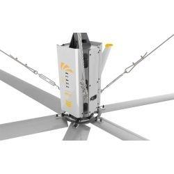 HVLS AC Stator OM-KQ-3E 220V. Industrial ceiling fan 12ft/3.7m. Ultraefficient desing 630 sqm coverage.