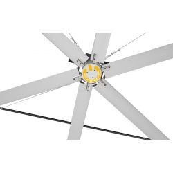 HVLS AC Stator OM-KQ-3E 220V. Industrial ceiling fan 12ft/3.7m. Ultraefficient desing 630 sqm coverage.