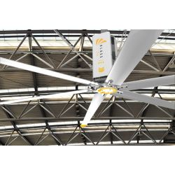 HVLS AC Stator OM-KQ-5E 220V. Industrial ceiling fan 18ft/5.5m. Ultraefficient desing 1080sqm coverage.