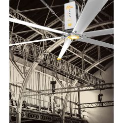 HVLS AC Stator OM-KQ-4E 380V. Industrial ceiling fan 16ft/4.9m. Ultraefficient desing 850sqm coverage.
