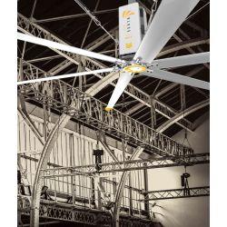 HVLS AC Stator OM-KQ-5E 380V. Industrial ceiling fan 18ft/5.5m. Ultraefficient desing 1080sqm coverage.