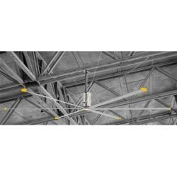 HVLS AC Stator OM-KQ-5E 380V. Industrial ceiling fan 18ft/5.5m. Ultraefficient desing 1080sqm coverage.