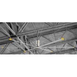 HVLS AC Stator OM-KQ-7E 380V. Industrial ceiling fan 24ft/7.3m. Ultraefficient desing 1800sqm coverage.