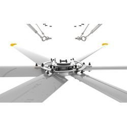 HVLS AC Stator OM-KQ-7E 380V. Industrial ceiling fan 24ft/7.3m. Ultraefficient desing 1800sqm coverage.
