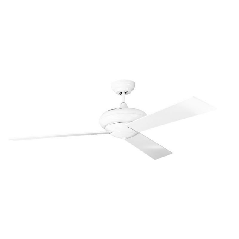 Ceiling fan desgn 127 Cm with LED lamp reversible white color remote.