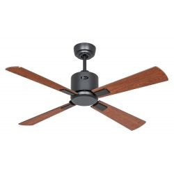 Ceiling Fan, DC, 103 Cm. basalt gray, cherry / walnut blades remote CASAFAN Eco II Neo BG