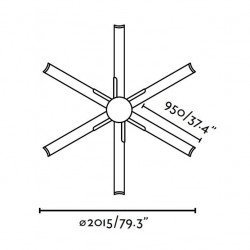 brown ceiling fan modern large size DC 215 cm FARO ANDROS 33462