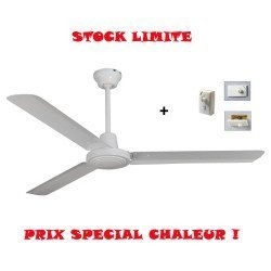 Ceiling Fan 142 cm. Industrial, white with remote control