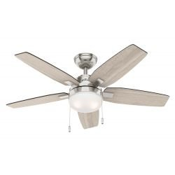 Ceiling fan with light Hunter Arcot BN 117 cm walnut, light oak