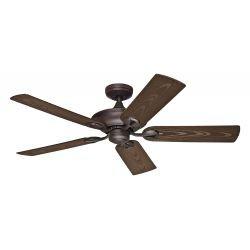 Outdoor ceiling fan Hunter MARIBEL NBOD , IP44, 132 Cm, with brown bronze blades and brown motor.