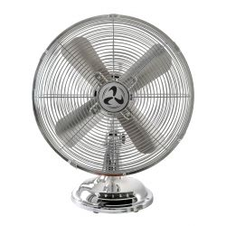 Table fan CasaFan TRADITION TV 30 II CH, blades of 30 Cm, all chrome plated with oscillation