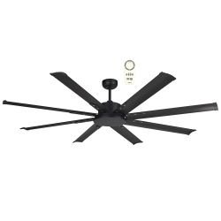 ceiling fan modern DC 165 cm Mini NORTH STAR for outdoor, Black