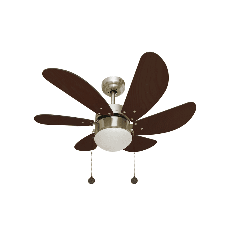 Ceiling fan Colore with lamp and cherry blades