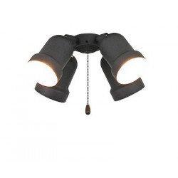Light Kit for ceiling fans Light 4 versions Eco Elements, Carribean Dream, satin star, royal, merkur etc (Chrome)