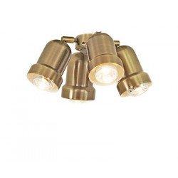 Kit light for ceiling fan Light 4 (Antique Brass) Eco Elements, Carribean Dream, satin star royal merkur