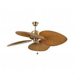 FARO CUBA Gold - Colonial style ceiling fan, 132 cm