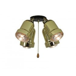 Kit light for ceiling fan Light 4 (Brass) Eco Elements, Carribean Dream, satin star royal merkur