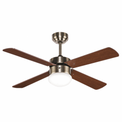 Libelle - AC Ceiling fan with remote control, light, and summer/winter function, 10 - 15m²