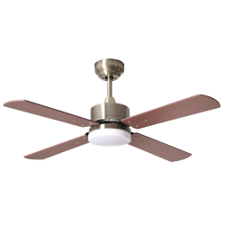 Sevilla - DC ceiling fan with double-faced blades, LED lighting, remote control, 107 cm