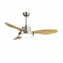Wind Beech - AC ceiling fan with LED light and remote control, 120 cm